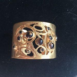 Julie collection smokey topaz cuff bracelet